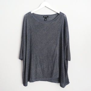 NEW WHBM Drop Shoulder Boxy Faux Wrap Sweater